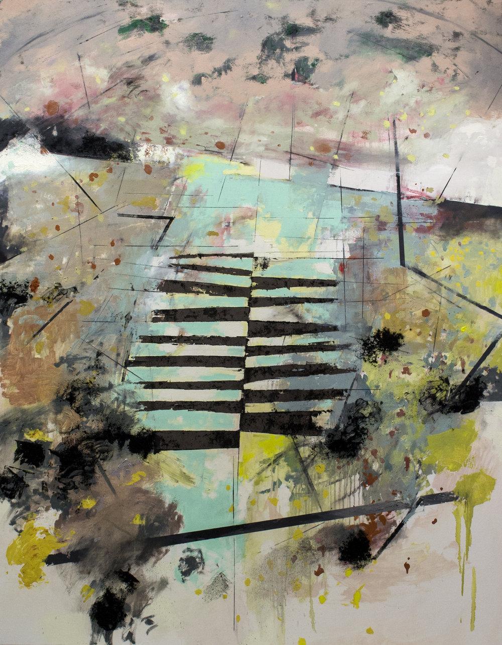 "Horizon , 2017 oil on canvas 61.5 x 48"""