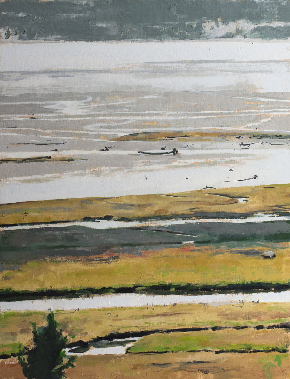 "Stillaguamish Estuary , 2017 oil on canvas 30 x 24"""