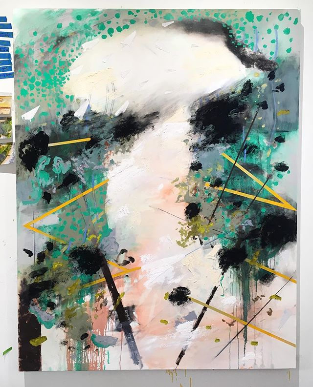 Homing in on this one #contemporaryart #seattleartist #atmosphere @kyleaustincook