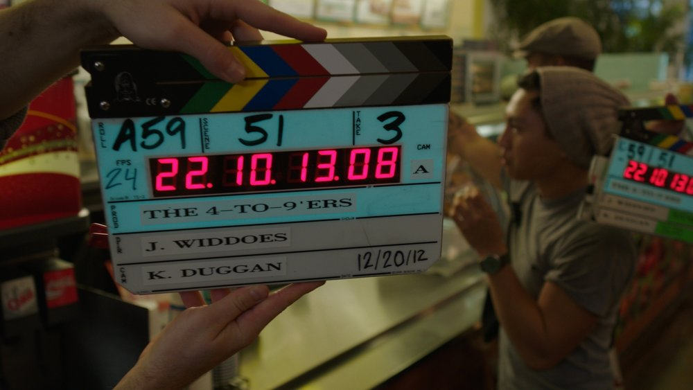 On the set of The 4 to 9ers, Directed by Jamie Widdoes.