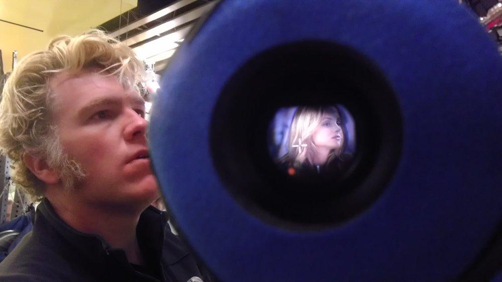 The camera eye.