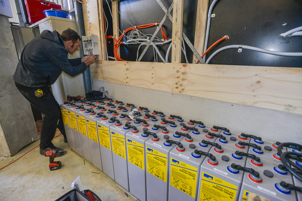 Wiring in the batteries