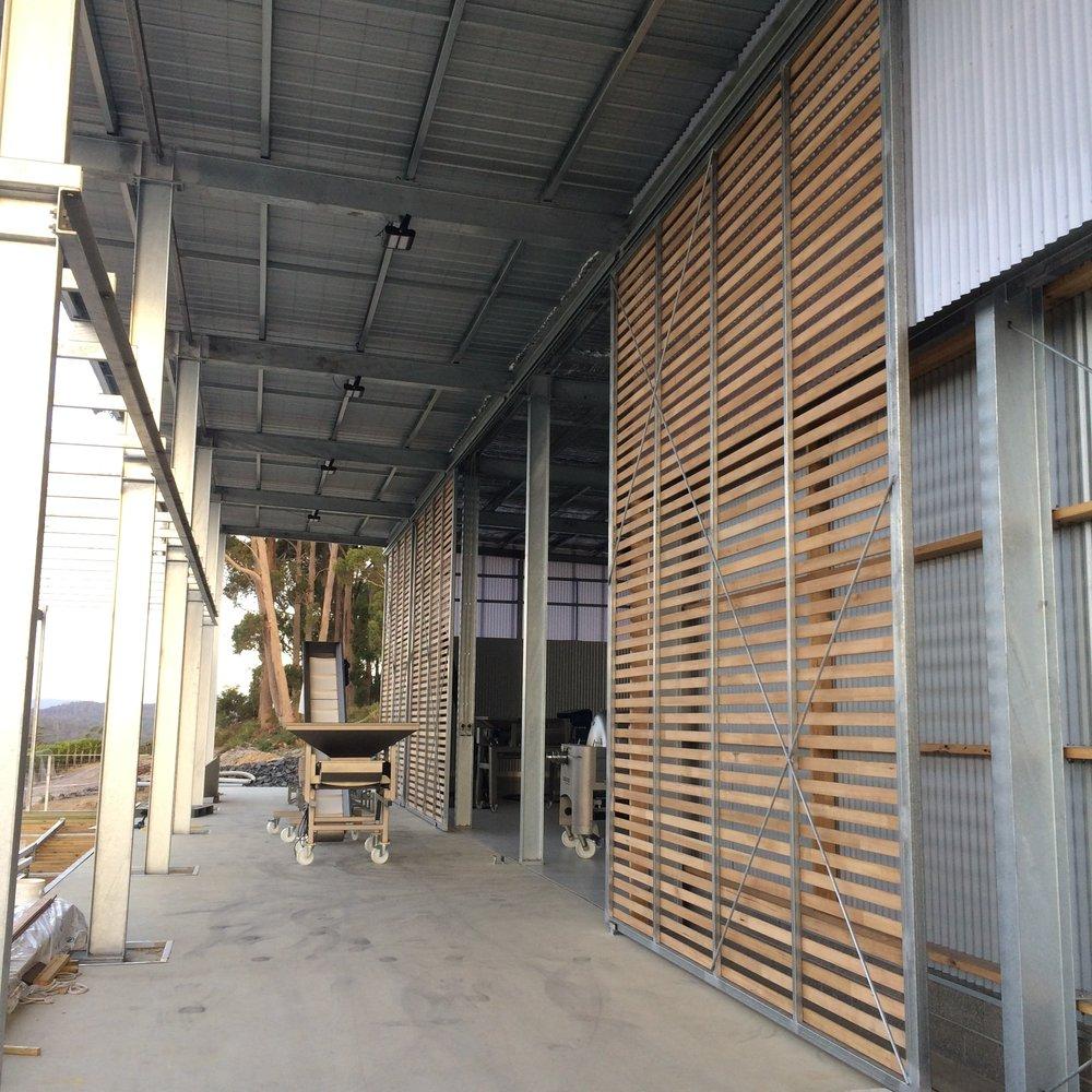 Sliding timber doors