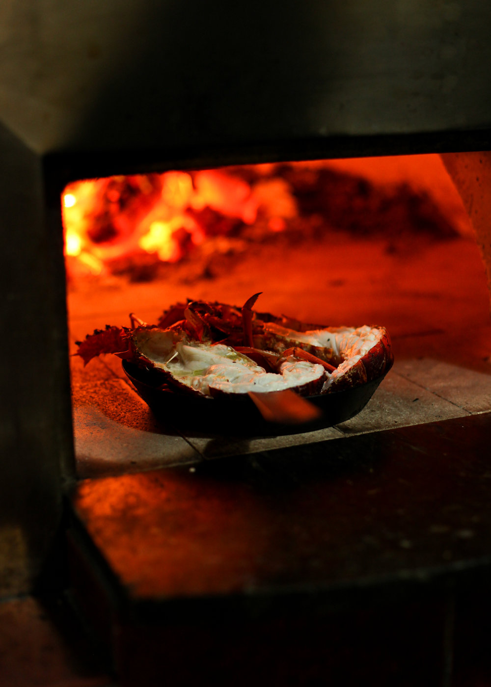 Wood fired cray fish
