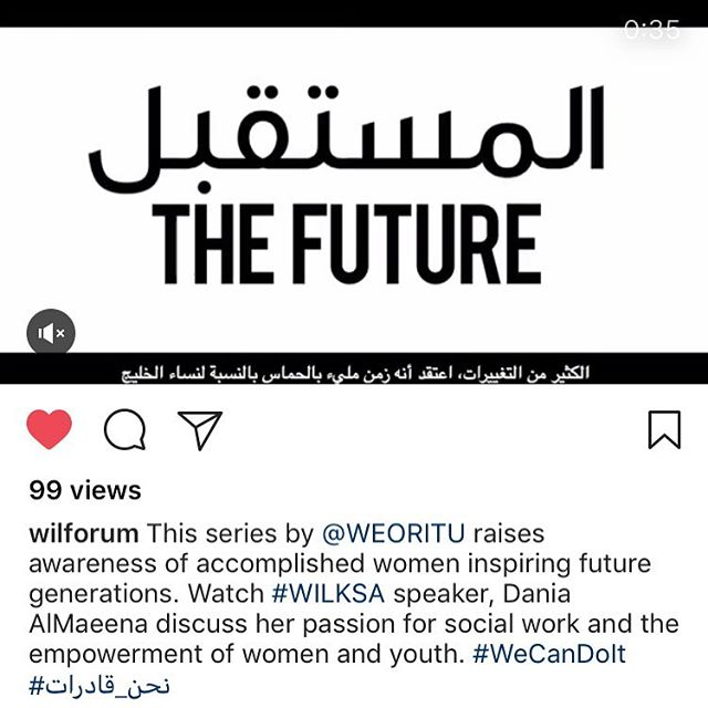Thank you @wilforum for sharing the message further 🙏🏼✨ #WeCanDoIt #نحن_قادرات #WEORITU