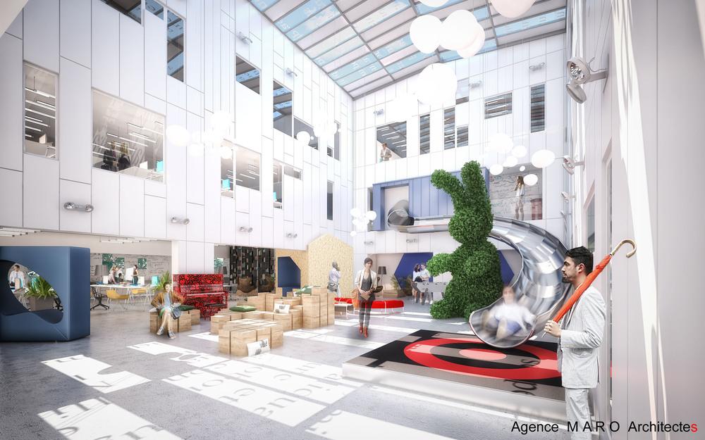 Architecture : Le toboggan de Vern sur Seiche