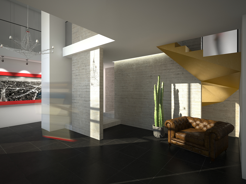 Maison et espace contemporain