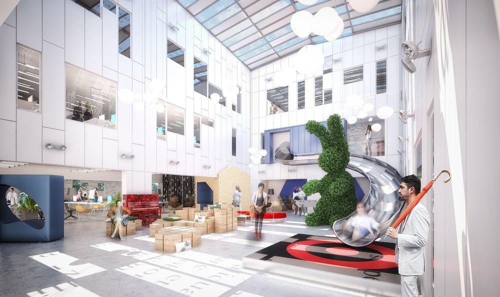 Tiers Lieu Ludique - Projet d'extension avec un atrium à Vern sur Seiche.