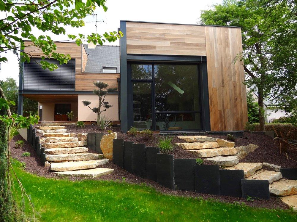 Extension en zone ABF - Réalisation d'une extension en bois, verre et métal