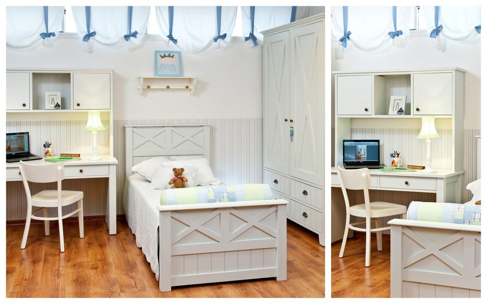 חדר בנים בסגנון כפרי קלאסי אירופאי