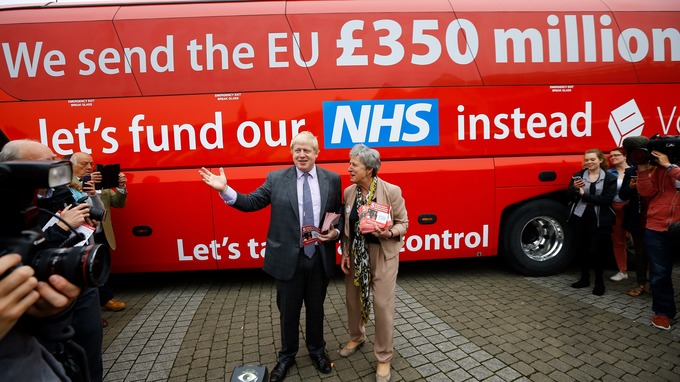 Boris Johnson's Bullshit Bus (Photocredit: Reuters)