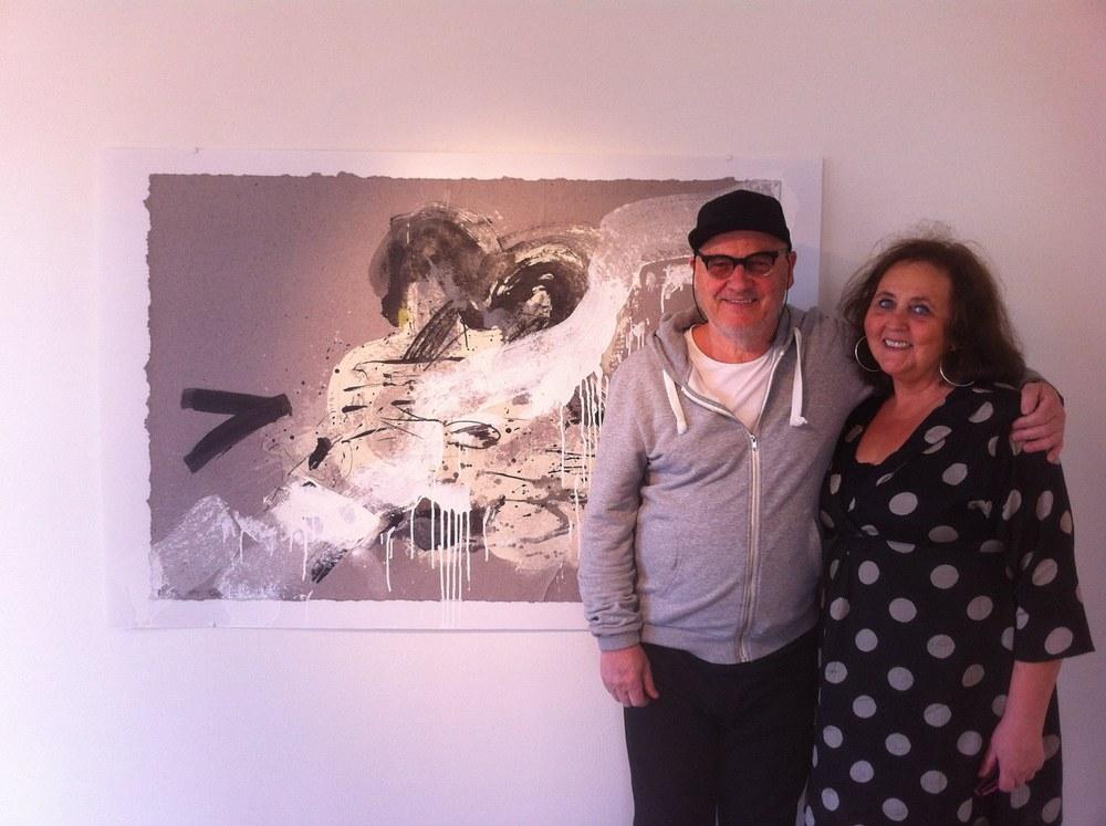 Her er Johan Mørch og jeg på åpningen av hans utstilling som åpnet sesong 2015.