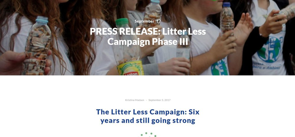 PRESS RELEASE: Litter Less Campaign Phase III