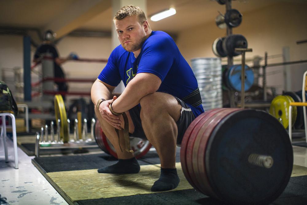 Páll Logason. Iceland's 3rd Strongest Man. Jakaból Gym,Reykjavík, Iceland. 2010.