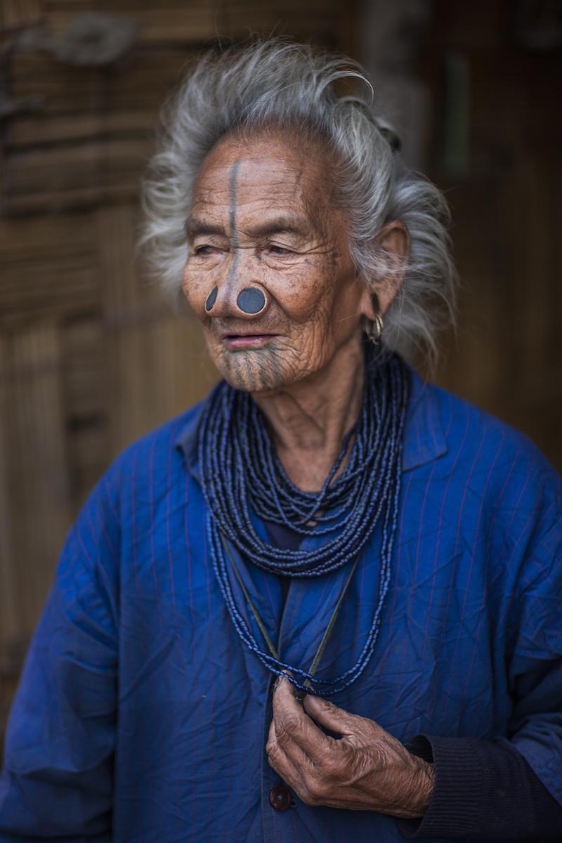 Apatani Tribeswoman. Arunachel Pradesh, Northeast India. 2009.