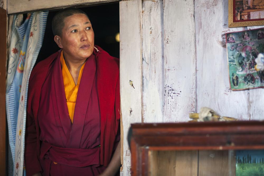 Buddhist Nun. Arunachel Pradesh, Northeast India. 2009.