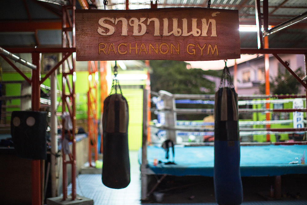 Rachamon Muay Thai Gym, Sai Mai District, Bangkok, Thailand. 2015.