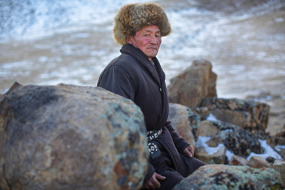 Kazakh Herdsman. Bayan-Ölgii, Western Mongolia. 2013.