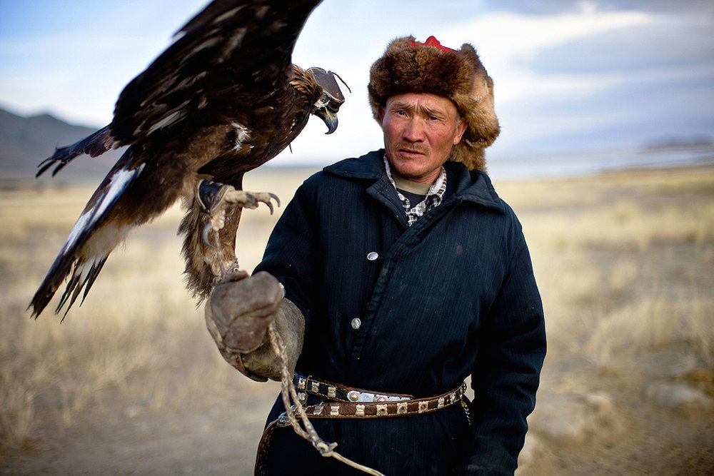 Kazakh Eagle Hunter. Bayan-Ölgii, Western Mongolia. 2012.
