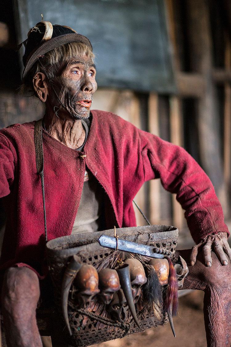 Konyak Headhunter. Nagaland, Northeast India. 2009.