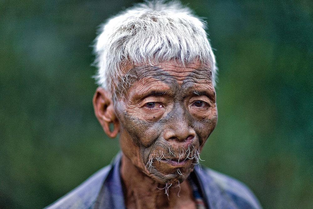 Konyak Headhunter. Nagaland, NE India. 2009.