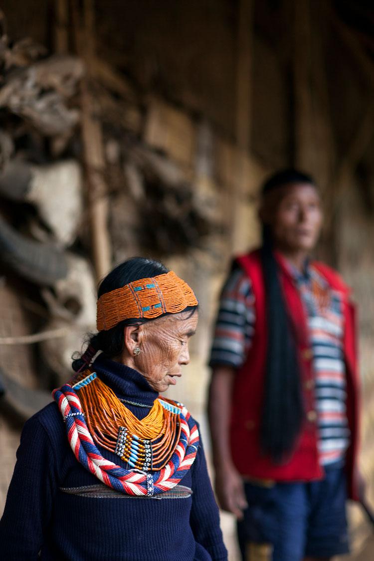 Konyak Princess and King. Nagaland, Northeast India. 2009.