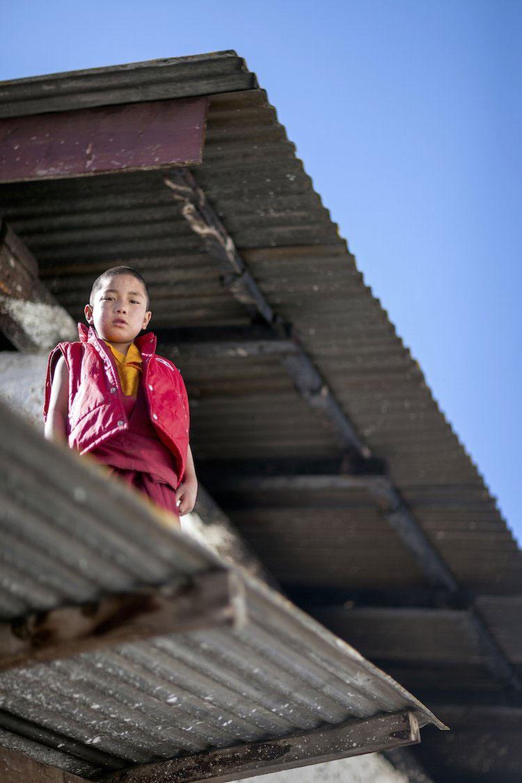 Novice Buddhist Monk. Tawang Monastery, Arunachel Pradesh, Northeast India. 2009.