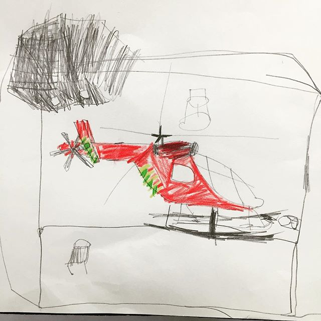 Diego's excellent illustration of the London Air Ambulance, as seen from milo HQ