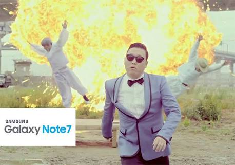 shy with explosion in background - galaxy note 7 joke.JPG