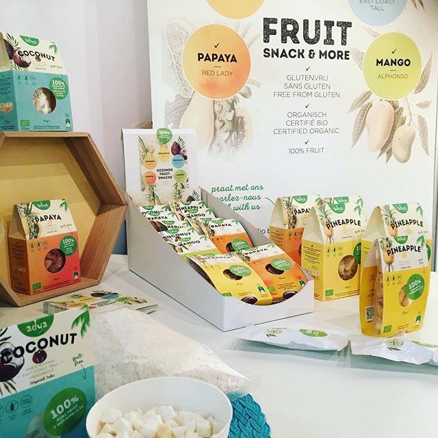 A touch of summer! Kick-off Adya 2018 in Zwolle (NL) op de Biobeurs #healthysnacks #glutenfree #sugarfree #adyabio #biodiversity #socialentrepreneur #organiccandy