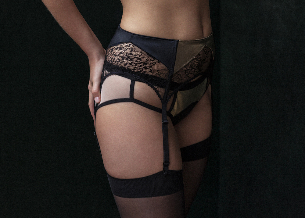 Golden Hold ups from Rosa Gold and Roxy Gold under.