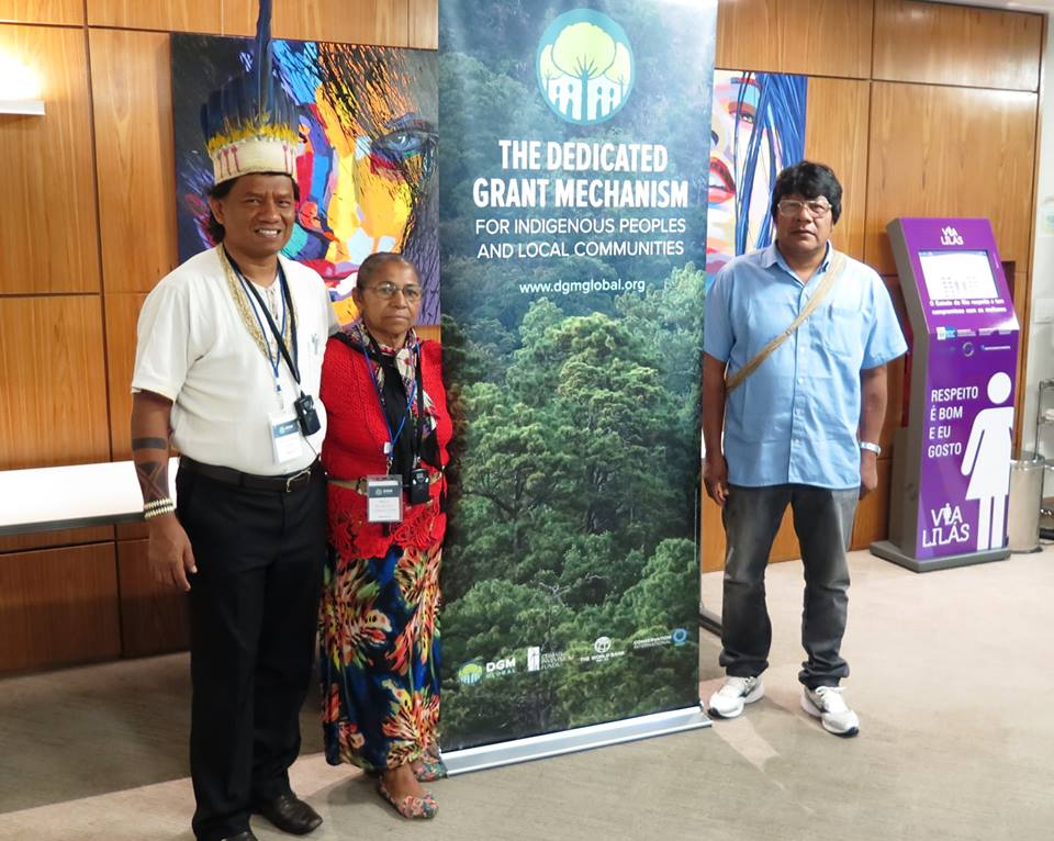 Brazil National Steering Committee members Maria do Socorro Teixeira Lima and Srewe da Mato de Brito, and Global Steering Committee representative Joao Nonoy Krikati join the rest of the DGM delegation for the annual Global Steering Committee meeting held in Brasilia, Brazil from April 18-20, 2017.