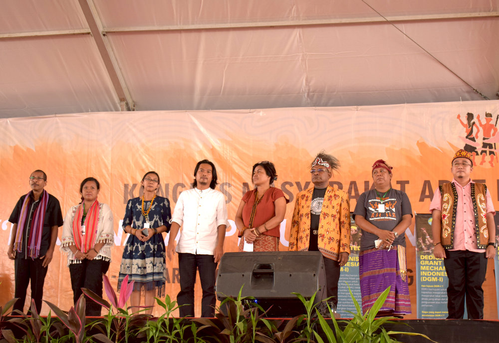 Members of the National Steering Committee of DGM Indonesia gathered for the project's official launch in March 2017. Photo Credit: DGM Indonesia