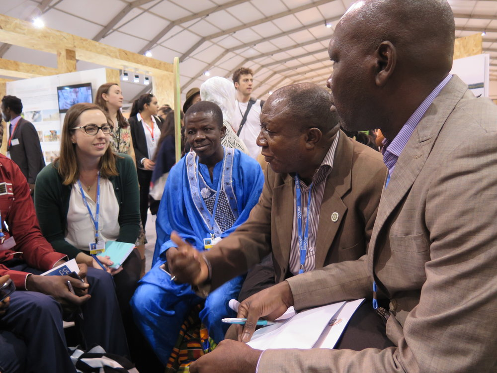The DGM Delegation meeting during COP21 in Marrakesh, Morocco. Nov 2016.