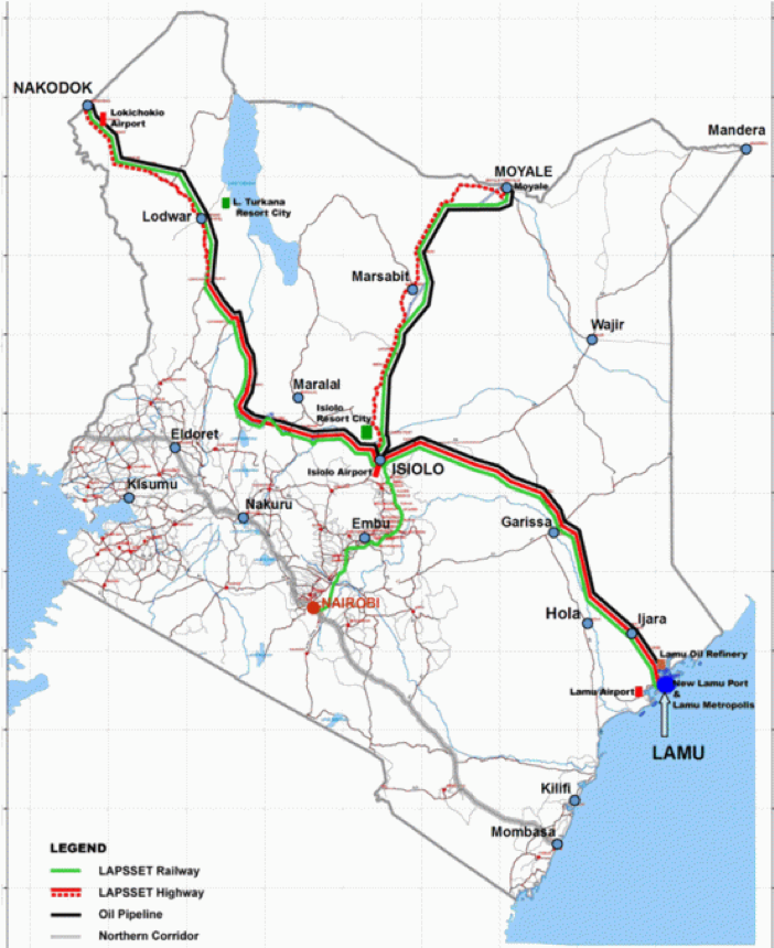 Figure 1: Map of proposed LAPSSET mega-corridor in East Africa. Photo: Wikimedia Commons