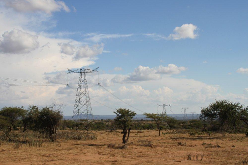 Kenya-Ethiopia High Voltage Power Line cuts through community lands; Photo: Patricia Dunne