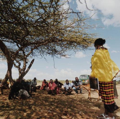 Lewuaso community visit provides for an exchange of negotiation experiences; Photo: Alli Cruz