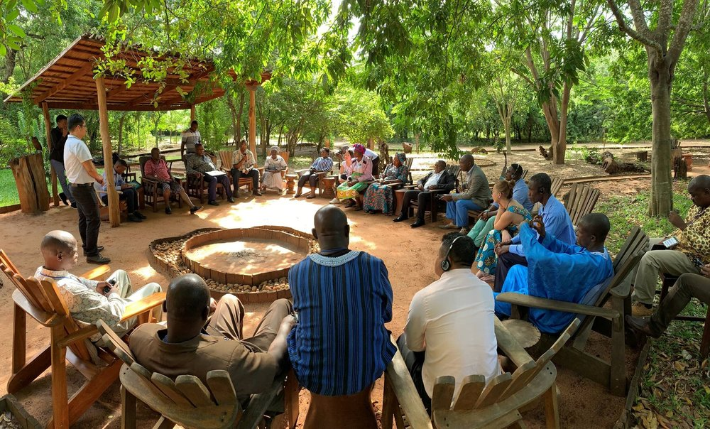Participants of the 2019 DGM Africa Regional Exchange share about progress of the DGM in their countries. Photo: Luis Barquin