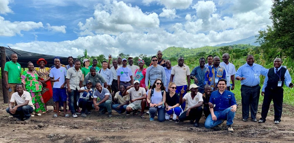 Figure 3. Participants of the 2019 DGM Africa Regional Exchange visiting the Canda community in Gorongosa. Photo: WWF Mozambique