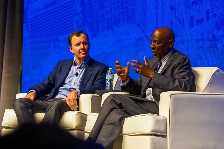 A Better Chicago Founder and CEO Liam Krehbiel with Geoffrey Canada