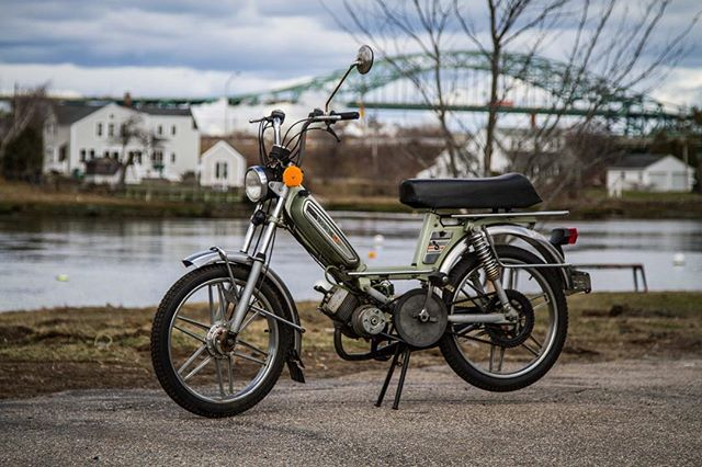 Just listed this hotness for sale... 1978 Peugeot 103... First bike to hit the website this season.  Dig it at www.portcitypeds.com/shop/  #fresh #moped #peugeot #portsmouth