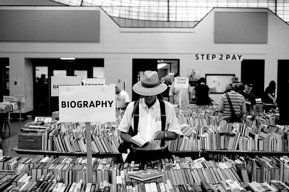 I could not resist his shot, this guy looked like he was in heaven amongst all the books and on his own.