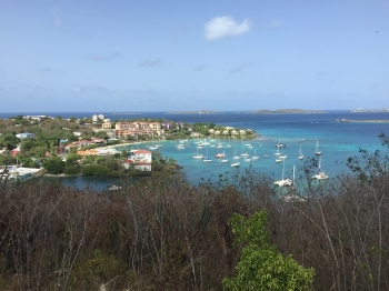 View from the Caneel Hill Outlook of Cruz Bay