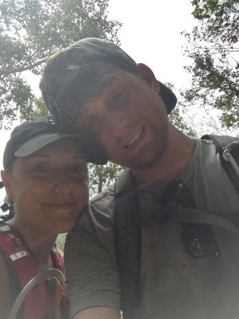 My husband and I on the Cinnamon Bay Trail. He was not as thrilled about hiking as I was!