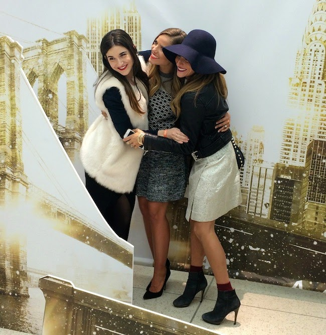 me, Julia Engel from Gal Meets Glam, and Eliana from Eishes Style