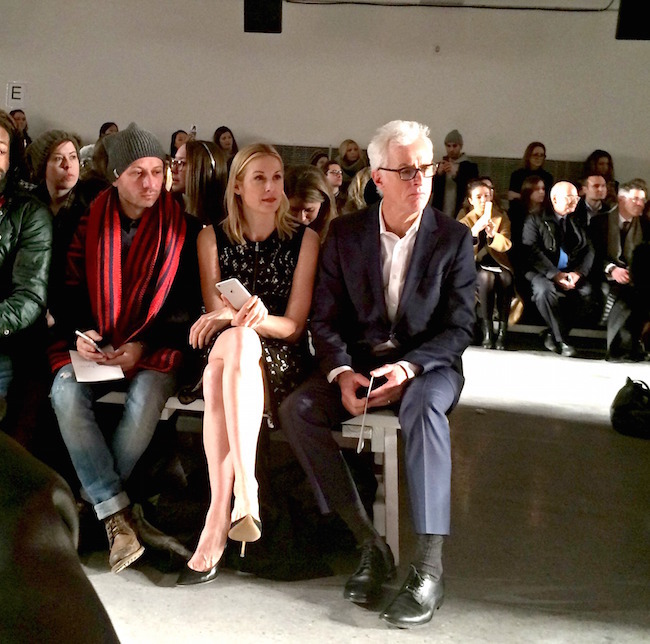 the view from my seat: Kelly Rutherford and John Slattery sitting front row