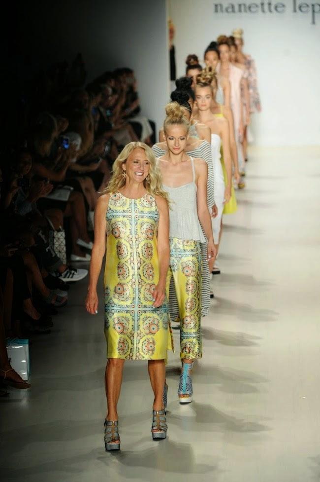 Nanette Lepore leading a line-up of models
