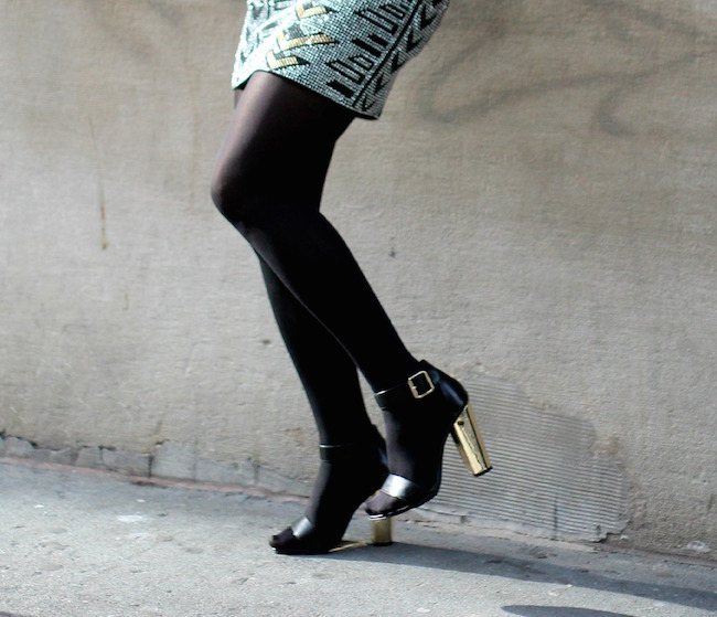 Sequin Skirt and Leather Jacket - Louboutins and Love Fashion Blog by Esther Santer