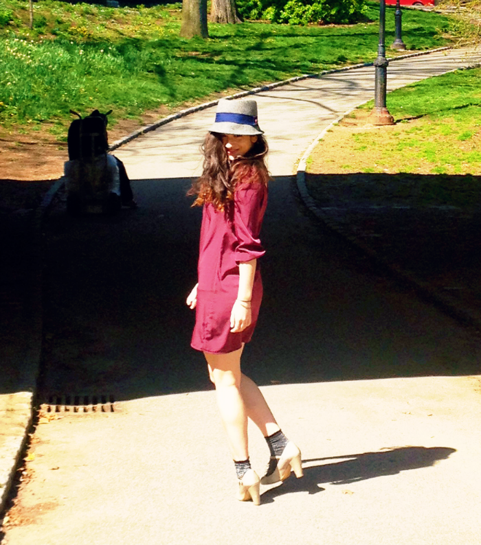 Urban Outfitters fedora  , Love Culture dress, Cotton-On   glitter socks  , H&M ring, Steve Madden   ruffle heels