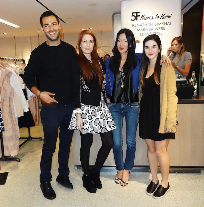 Fashion Designers Jonathan Simkhai, Ohne Titel, Marissa Webb, and me